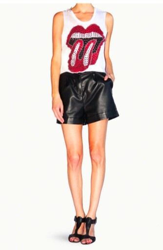 The Rolling Stones Sleeveless Crop