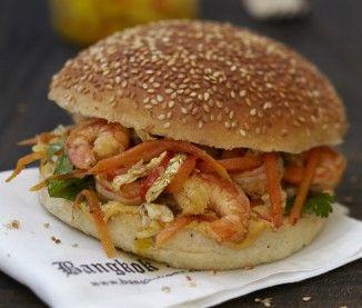Thaï burger aux crevettes