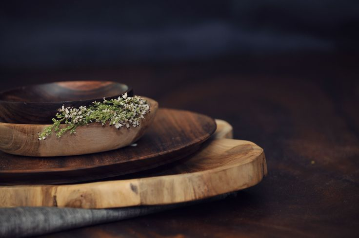 Hand crafted wooden platters by Life: From the roots