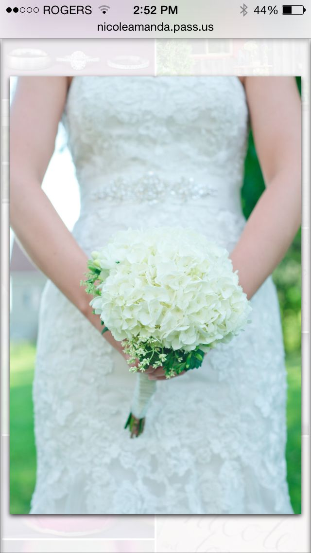Rustic country flowers. Bridal bouquet. White hydrangea, lilac and freesia
