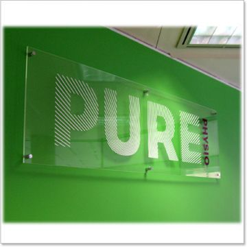 10mm thick clear acrylic panel with graphic on the back