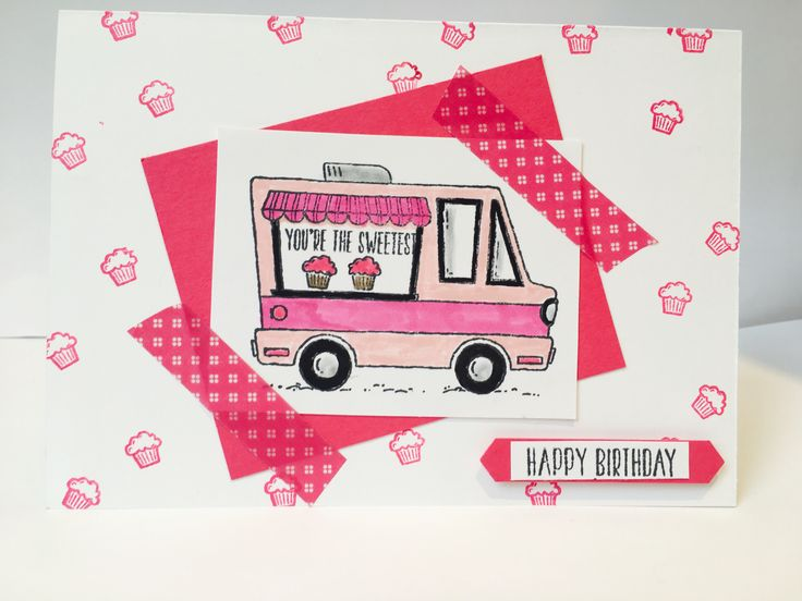 Card using Saleabration stamp set Tasty Trucks get this cute stamp set with any £45 order during Sale-a-bration visit www.Tracyabrahams.co.uk to order yours from January 4th