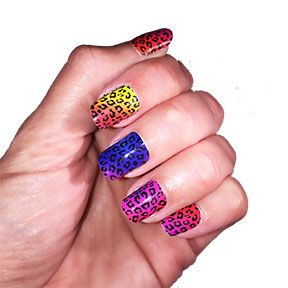 Rainbow Zoo Nail Polish Strips www.amysnails.net