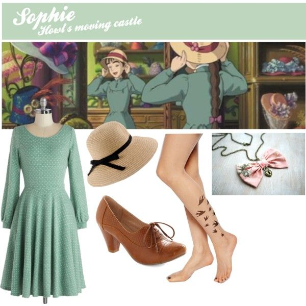 "I love the animations of Ghibli Studio. Inspired by the characters I translate their outfits into a everyday wearable outfit.   ""Sophie (Howl's moving castle)"" by curiosity-engineer on Polyvore"
