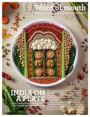 Condé Nast India Food Illustration