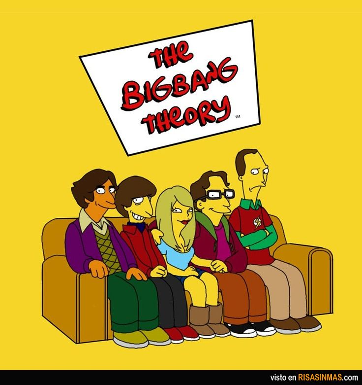 The Big Bang Theory simpsonizados.