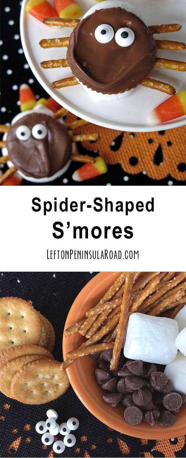 Halloween spider s mores treats
