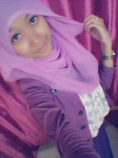 #me #selca #hijab #purple #pinit #like #followme #indonesia
