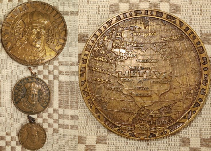 Vytautas the Great 500th Anniversary 1430-1930,medals of Petras Rimsa.