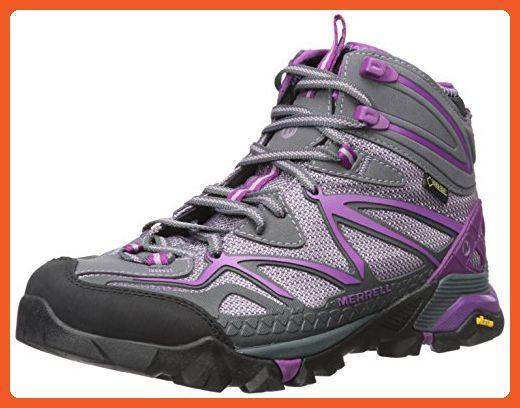 Merrell Women's Capra Sport Mid Gore-Tex Hiking Boot, Purple, 5.5 M US - Boots for women (*Amazon Partner-Link)