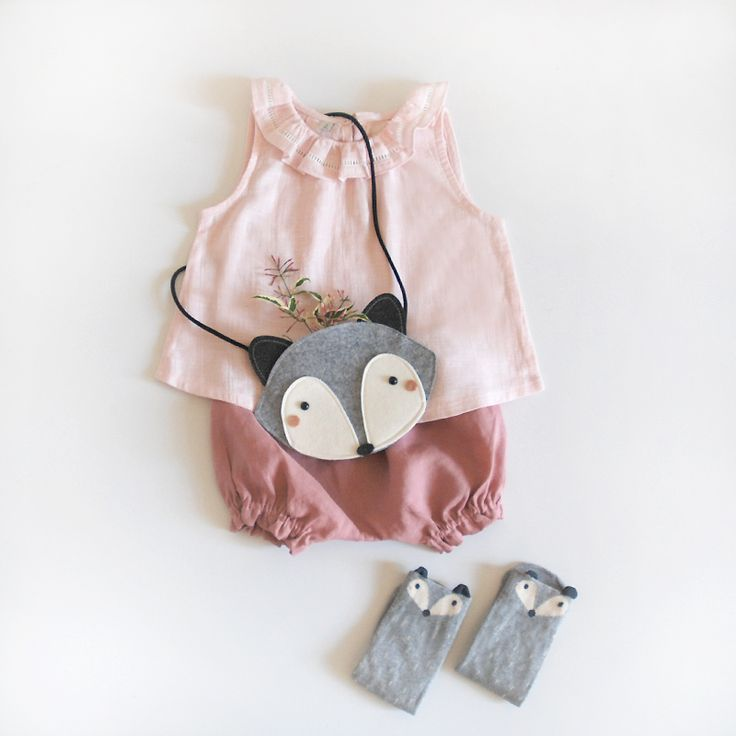 Top and bloomers for girls and raccoon socks
