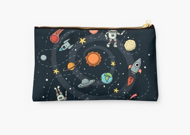 Outer Space Illustration by Gordon White | Studio Pouch Available @redbubble  --------------------------- #redbubble #sticker #studiopouch #pouch #bag --------------------------- http://www.redbubble.com/people/big-bang-theory/works/22569162-outer-space-planetary-illustration?asc=u&p=pouch&rel=carousel