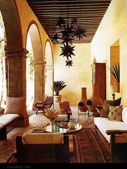311 best mexican decor images on pinterest haciendas for Spanish hacienda style