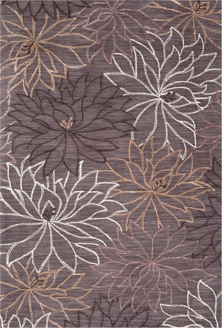 modernrugs.com ameila charcoal floral modern rug