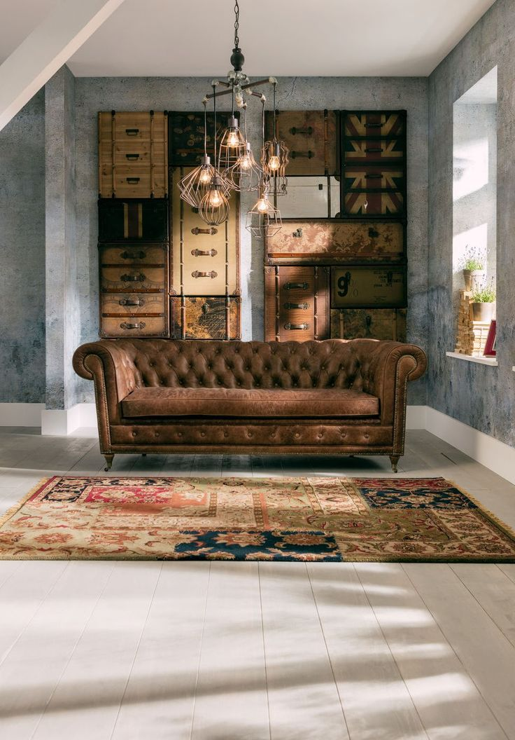 Chesterfield wohnzimmer  306 best Chesterfield + Leather Seating images on Pinterest ...