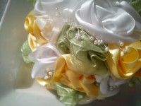 yellow green fabric beads bouquet