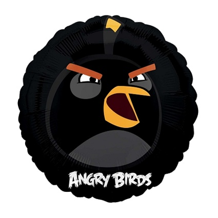#globometalico #fiestaAngryBirds #kitfiesta http://www.kitfiesta.com/fiestas-ninos/angry-birds/angry-birds-globo-metalico-negro
