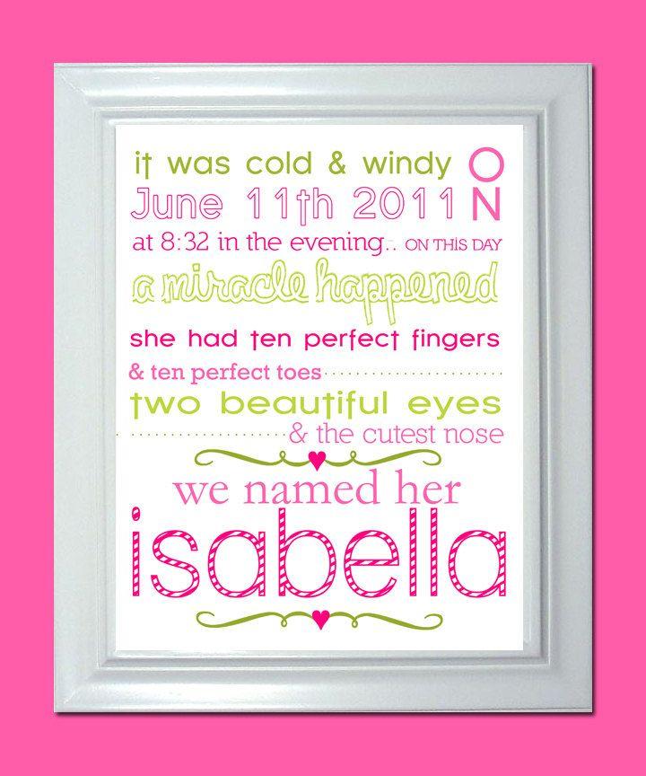 Cute idea for birth announcement