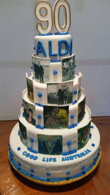 Birthday photo cake/a lifetime on cake