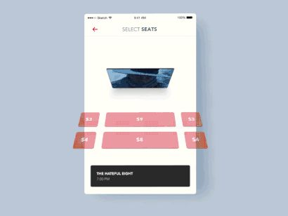 Book movie tickets 3D by Aurélien Salomon—The Best iPhone Mockups for Your Next Product → store.ramotion.com