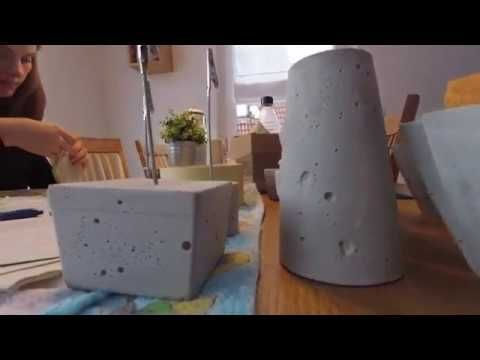 Beton – do it yourself – Basteln mit Beton – making your own decoration wi…