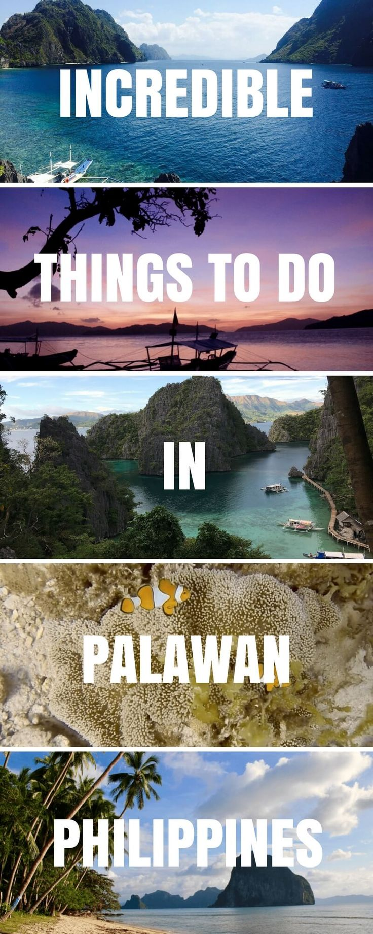 Visiting Palawan in the Philippines is an unforgettable experience. Click for Top Things To Do in Palawan + why you should make it your next stop! ***** Philippines | Palawan | El Nido | Coron | Things to do in Palawan | Things to do in El Nido | Things to do in Coron | Where to Stay in El Nido | Where to stay in Coron | Where to stay in Palawan | Puerto Princesa #Philippines #asiatraveltips #Palawan #ElNido #Coron