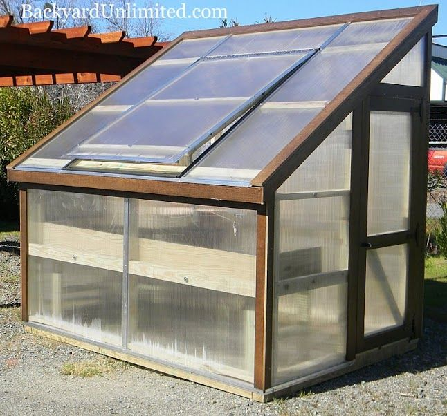 6'x8' Lean-to Style Greenhouse with Plant Table and Potting Bench http://www.backyardunlimited.com/