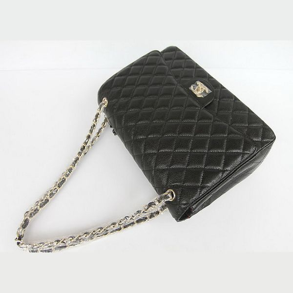 Replica Handbags - 1116 Chanel Flap Bag Quilted Black Caviar with Gold Chain 1116 Cheap Replicas