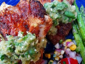 lish: Cumin-Crusted Chicken Thighs with Tomatillo Salsa