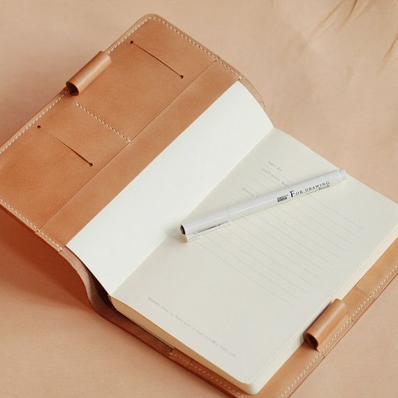 100% Hand-stitched Vegetable Tanned Leather Notes by AnneSoye