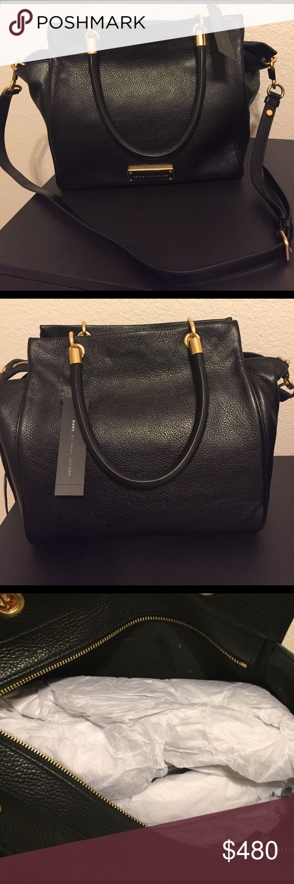 BRAND NEW!! Marc by Marc Jacobs handbag in black! BRAND NEW! MARC BY MARC JACOBS Large size handbag! Marc by Marc Jacobs Bags Shoulder Bags