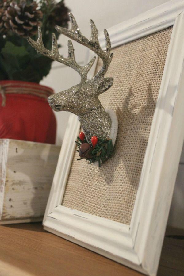 Learn how to make 3 fun and easy DIYs to create Farmhouse Christmas Decor with Dollar Tree supplies.