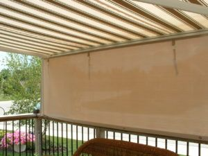 Awning with Custom Privacy Shade