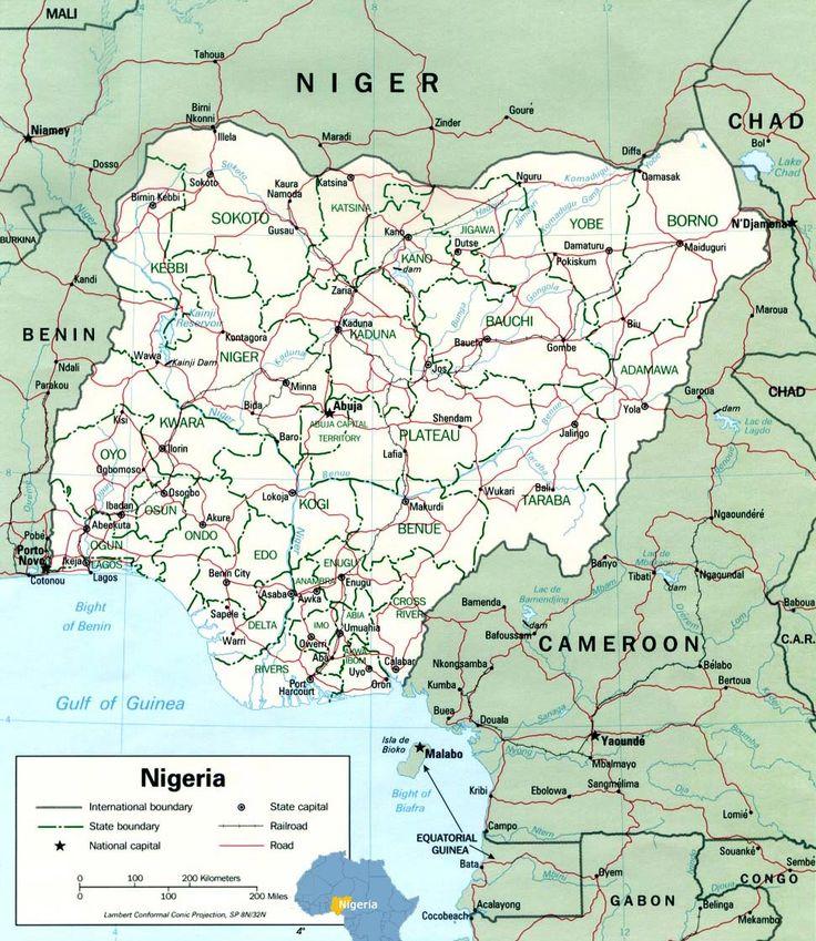 Lagos map   Tourist Guide Nigeria Map Africa - Lagos Capital