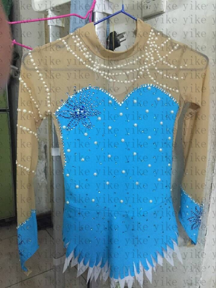 kids ice skating dresses for child competition figure skating clothing custom #yike