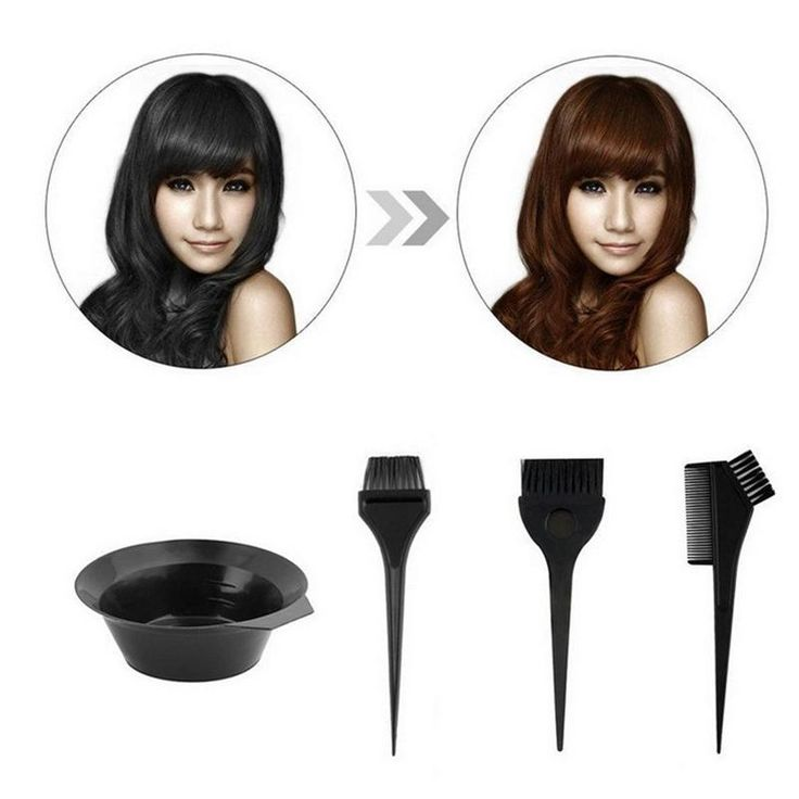 [Visit to Buy] 4 PCS Salon Hair Dye Set Kit Hair Color Brush Comb Mixing Bowl Hairdressing Tool  #Advertisement