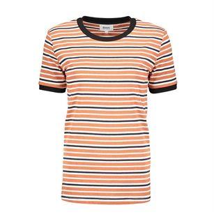 8MM. DORA stripe tee, Orange, medium