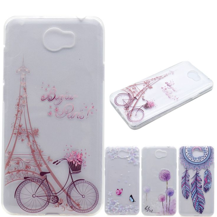 Phone Cases soft TPU sFor Fundas Huawei Y5II Y5 2 Huawei Y6 II Compact case For Coque Honor 5A LYO-L21 cover Transparent Pattern