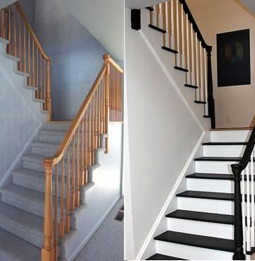 23 Pretty Painted Stairs Ideas To Inspire Your Home Stairs Diy