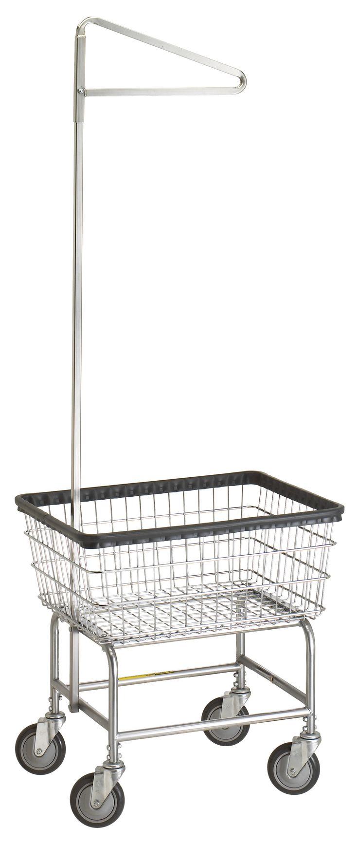 Wire Laundry Carts | Laundry Hampers | Narrow Laundry Cart with Single Pole Rack