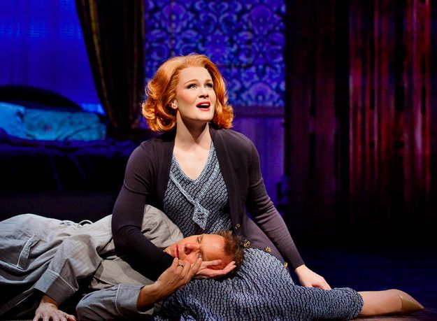 "When Kate Baldwin sang her heart out in ""I Don't Need a Roof."" 