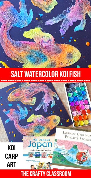 Koi Fish Art Project for Kids! Many other Japanese Art Projects for Kids here too!