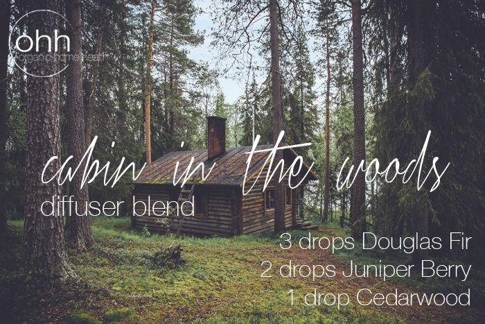 Cabin in the Woods diffuser blend with juniper berry, douglas fir, and cearwood
