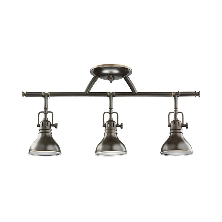 Kichler Lighting Hatteras Bay 3-Light 22.75-in Olde Bronze Fixed Track Light Kit