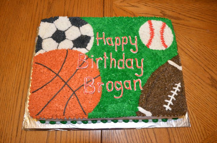 Sports Themed Birthday Cake                                                                                                                                                                                 More