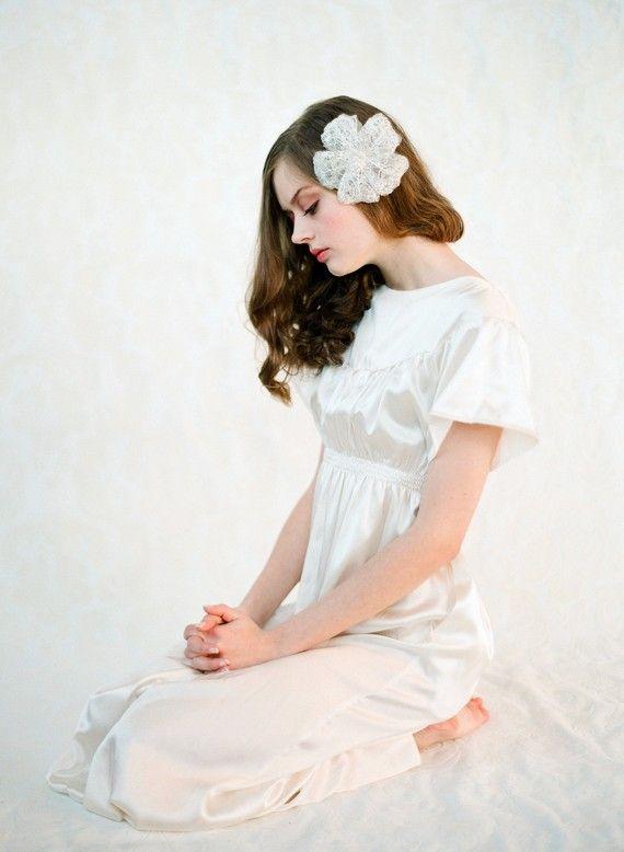 Orcas Island Silk Wedding Dress Gown Custom Made by hollystalder, $425.00