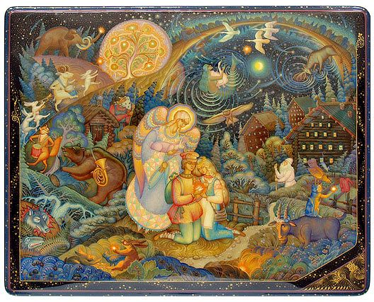 Denis Molodkin, Mstera lacquer box, Starfall in August, 2006