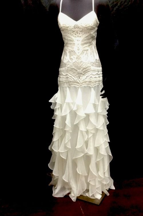 Rustic Vintage Wedding Dresses | ... WONG VINTAGE LOOK RUSTIC WEDDING DRESS IVORY SIZE 4 NWT - wedho.com