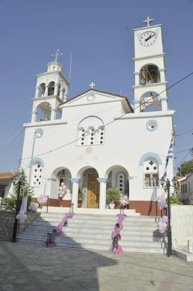 There are no words for the inside of this church. Agios Nikolaos-- Samos Greece