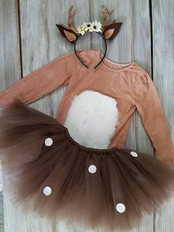 Whimsical kids Deer costume with antler headband